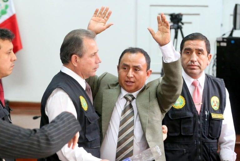 Ex gobernador de Cajamarca es condenado a 19 años de prisión por tres delitos