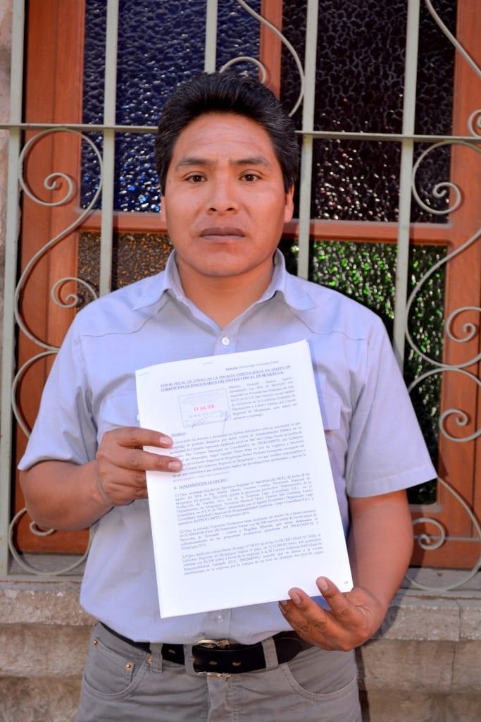 Máximo Ramos no desistirá en denuncia contra ex coordinador de PROCOMPITE