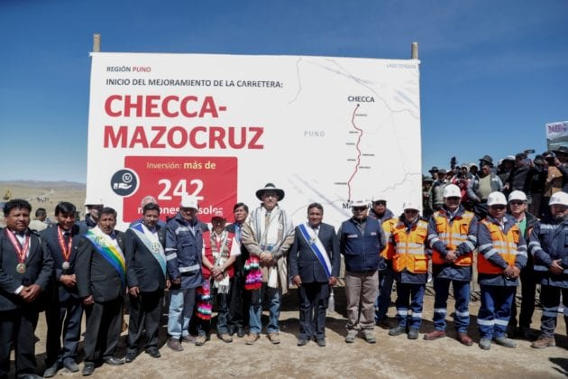 Presidente Martín Vizcarra y ministro Edmer Trujillo dan