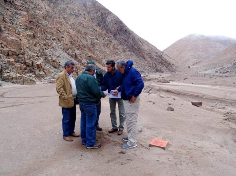 ANA inspecciona terrenos de la represa de Quebrada Honda
