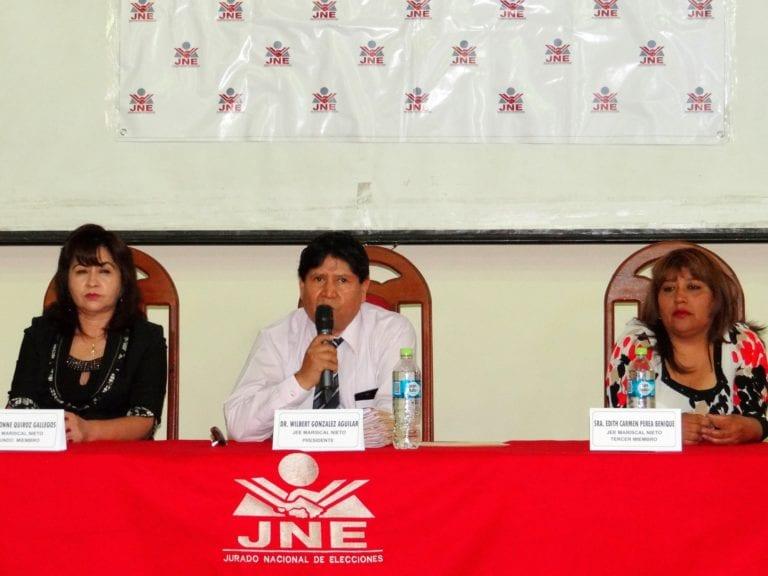 Jurado Electoral Especial de Mariscal Nieto proclama autoridades electas de Moquegua