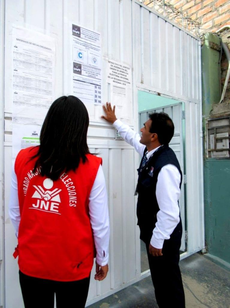 ODPE Arequipa realiza publicación de cartel de candidatos para segunda elección regional