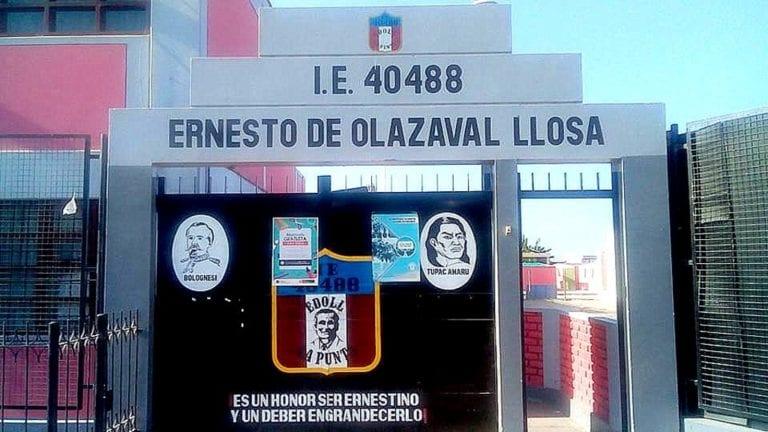 I.E. Ernesto de Olazával de Punta de Bombón perdería 3 plazas