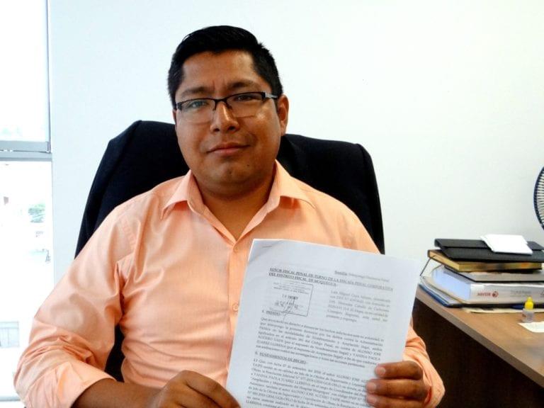 Presentan denuncias contra funcionarios del GRM Yanina Juárez y Alonso Agüero