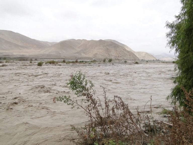 Se incrementa aforo del río Tambo a 100 m3/seg