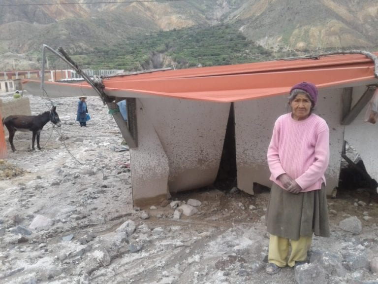 Aluvión en Matalaque destruye 12 viviendas, Damnificados lo perdieron todo