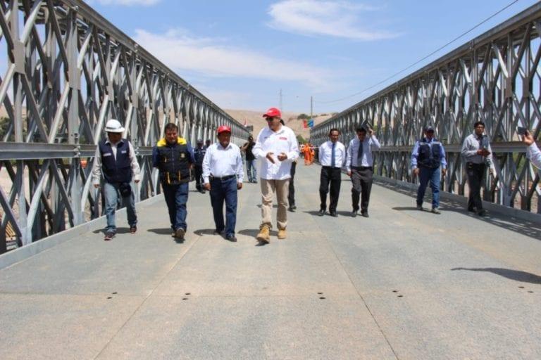 Hoy se apertura el paso de la Panamericana por el provisional puente Montalvo