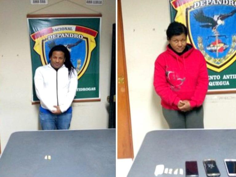 Detienen a dos ecuatorianos en posesión de droga