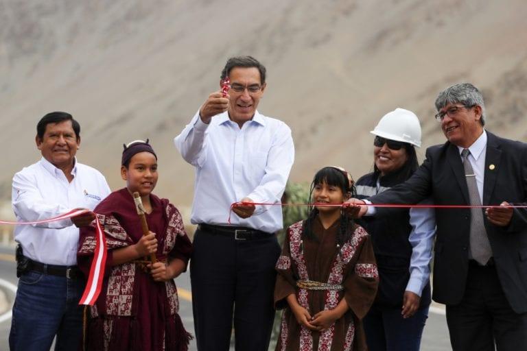 Presidente Martin Vizcarra inauguró carretera San Gerónimo – El Algarrobal