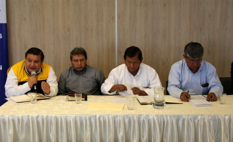 Alcalde propuso celeridad a instalación del comité de monitoreo de la mesa de diálogo con Quellaveco