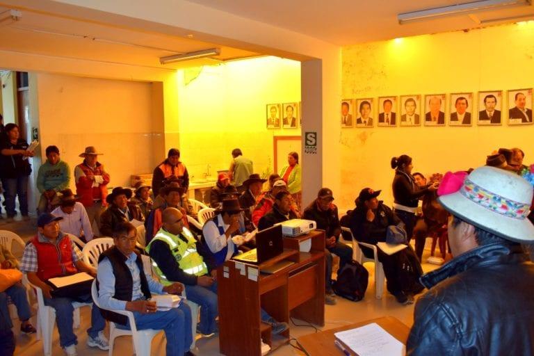 Carumas: sociedad civil y autoridades participaron en taller de priorización de proyectos