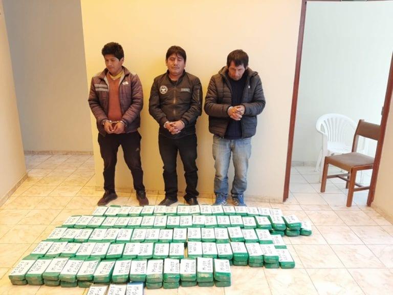 Incautan 163 kilos de pasta básica de cocaína en el distrito de Ichuña