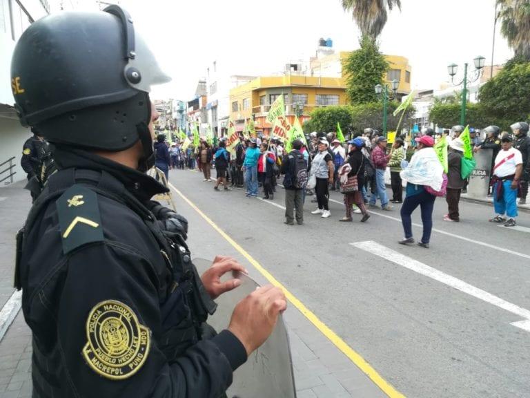 Opositores a Tía María se movilizaron en Mollendo rechazando el proyecto minero