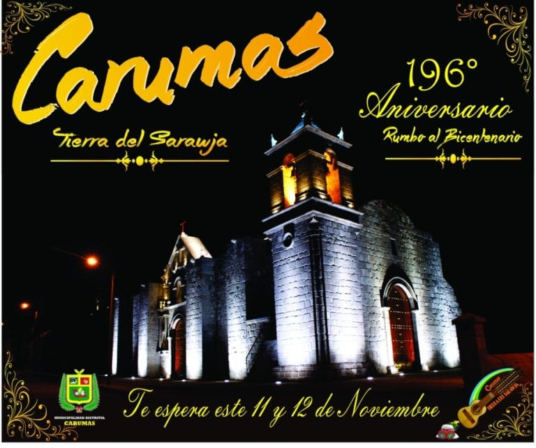 Distrito de Carumas próximo a celebrar su 196° aniversario