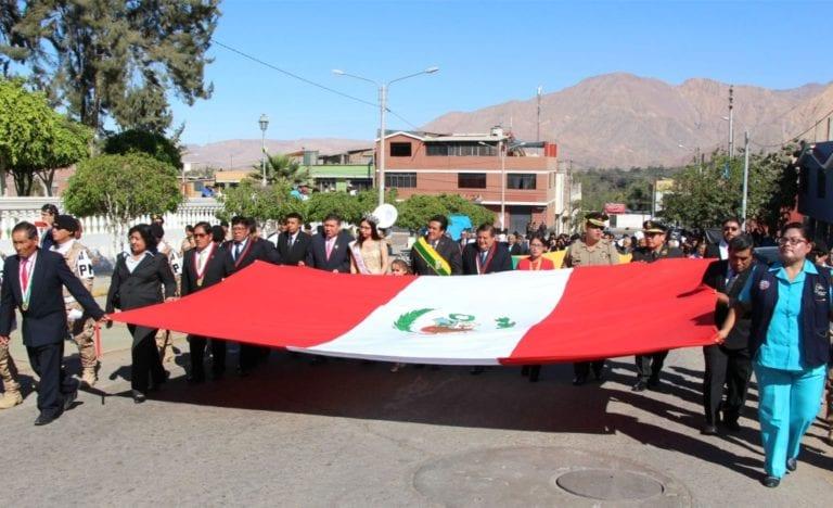 Realizan actos protocolares por el 125° aniversario del distrito de Samegua