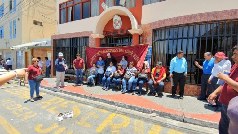 Trabajadores del Poder Judicial de Ilo y Moquegua en huelga indefinida