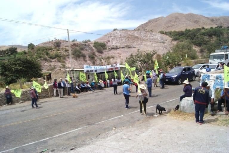 Tumilaca: Segundo día de paro contra Quellaveco con poco respaldo