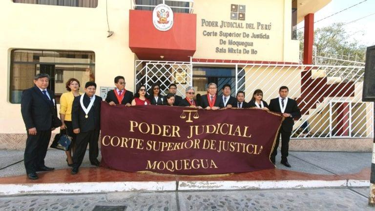 Jueces y fiscales del distrito judicial de Moquegua sesionaron y emiten pronunciamiento