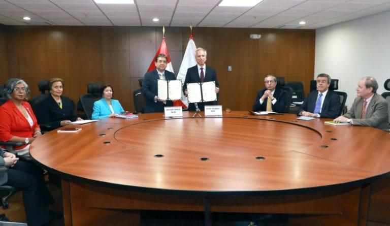 Junta Nacional de Justicia y Contraloría General firman Compromiso por la Integridad