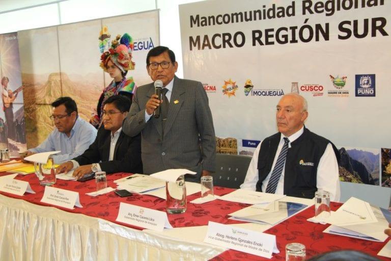 En reunión de la Mancomunidad Sur Macro Región Sur 2020 piden priorizar proyectos estratégicos