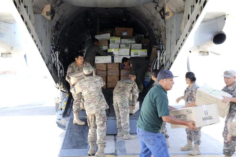 FAP entrega ayuda humanitaria a damnificados de Samegua