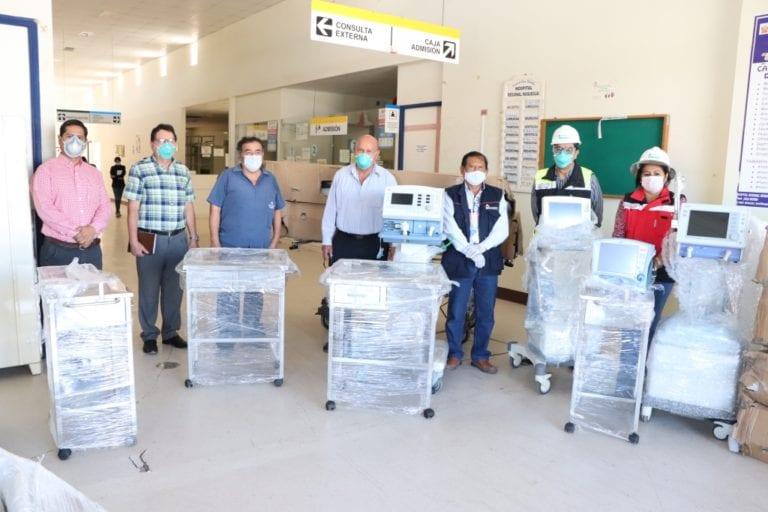 Gobernador regional recibió 06 camas tipo UCI