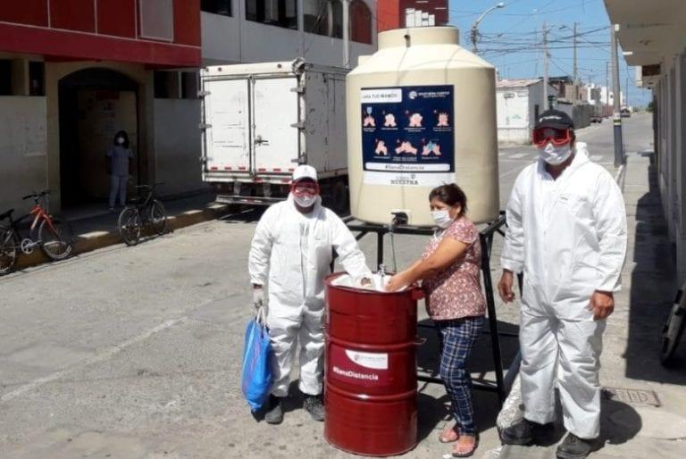 Tía María instala 19 lavamanos en toda la provincia