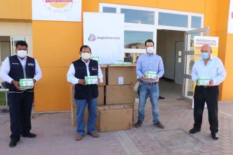 Moquegua cuenta con 10 mil pruebas rápidas donadas por empresa privada