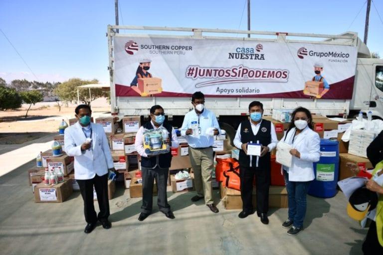 Southern Peru entrega apoyo a hospitales de Arequipa