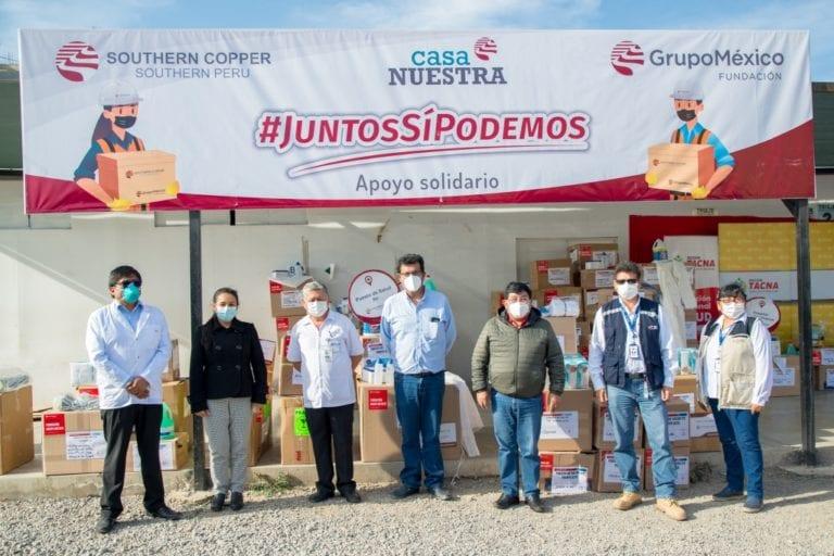 Southern fortalece sistema de salud en Tacna para lucha contra el covid-19 con entrega de equipos de bioseguridad e insumos médicos