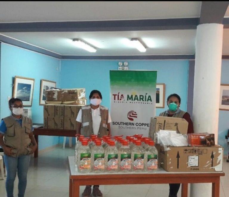 Tía María entrega material de protección sanitario a la municipalidad de Islay-Matarani