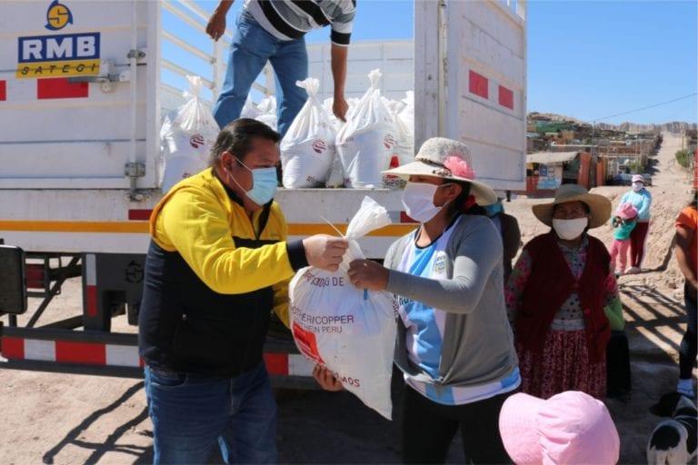 Alcalde destacó que apoyo de alimentos gestionado ante minera Southern