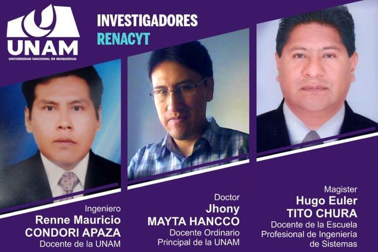 Concytec califica e incorpora docentes de la UNAM como investigadores de RENACYT