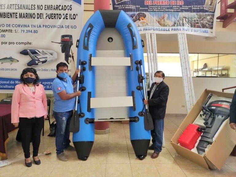 Procompite: GORE Moquegua entregó equipamiento a asociaciones de pescadores