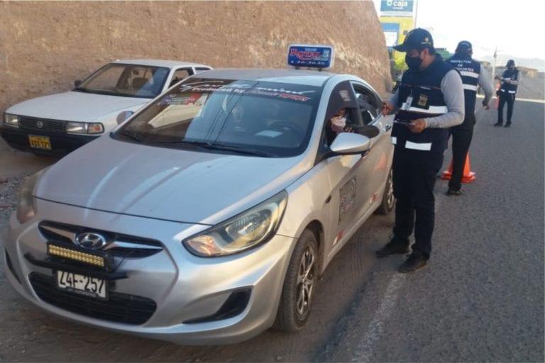Fiscalizan adecuación sanitaria y sancionaran a vehículos informales