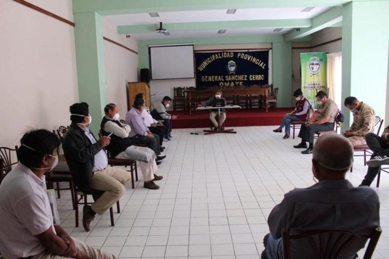 Plataforma provincial de Defensa Civil de Omate sostuvo reunión virtual