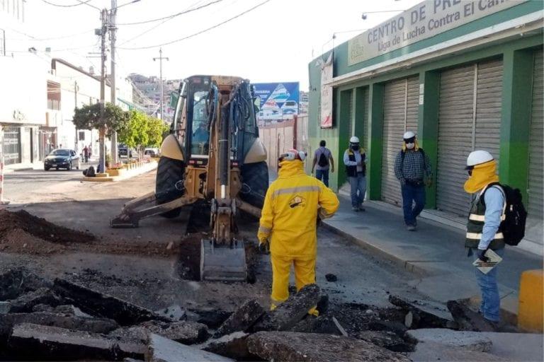 Realizan cierre parcial de tramo de la Av. Balta por obra de drenaje pluvial