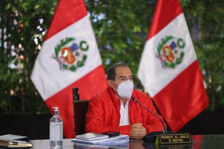 Martos reitera compromiso del Gabinete para trabajar con el Congreso contra el covid-19